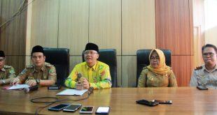 Gubernur Bengkulu Rohidin Mersyah memimpin konferensi pers terkait Virus Corona yang kini mulai melanda berbagai negara.