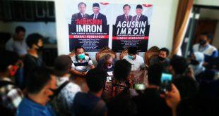 Tim pemrnangan Agusrin-Imron menggelar jumla pers dan memastikan menggugat keputusan KPU Provinsi Bengkulu. (foto: dyo)