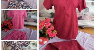 Pajangan baju yang akan dijual secara online melalui media sosial.